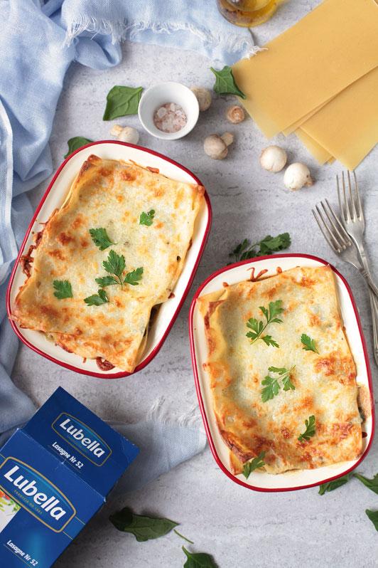 lasagne ze szpinakiem