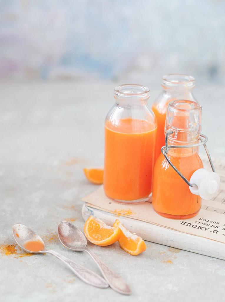 domowy sok z marchewki i pomarańczy