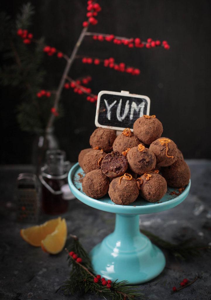 czekoladowo pomarańczowe trufle z ciasta